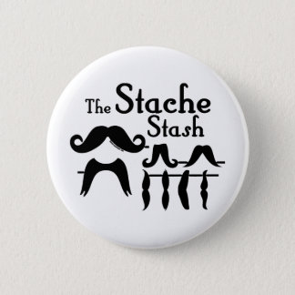 The Stache Stash Pinback Button
