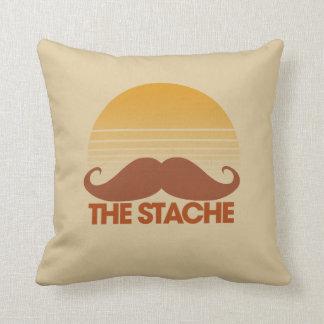 The Stache Throw Pillow