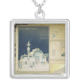 The Stadtbahn Pavilion of the Vienna Silver Plated Necklace