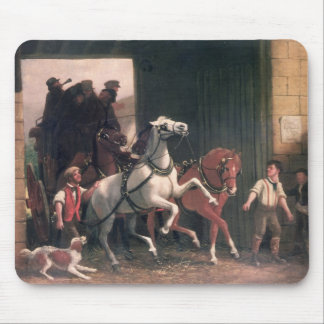 The Stage Arrives, c.1830 Mouse Pad