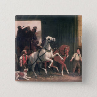 The Stage Arrives, c.1830 Pinback Button