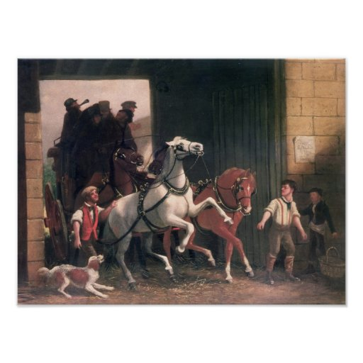 The Stage Arrives, c.1830 Poster