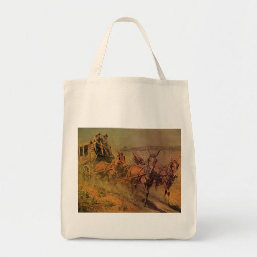 The Stage Coach by John Borein, Vintage Cowboys Bags
