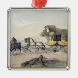 The Stage Coach Metal Ornament
