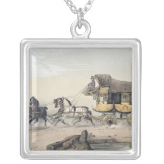 The Stage Coach Square Pendant Necklace