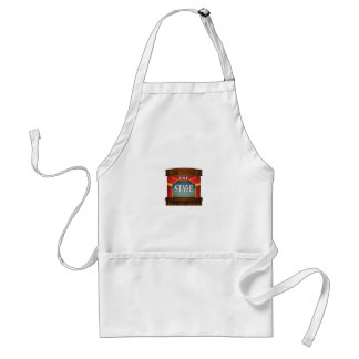 the stage goes on adult apron