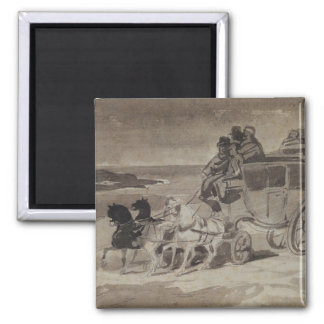 The Stagecoach 2 Inch Square Magnet