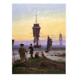 The stages of life by Caspar David Friedrich Postcard