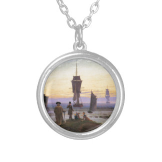 The stages of life by Caspar David Friedrich Silver Plated Necklace