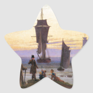 The stages of life by Caspar David Friedrich Star Sticker