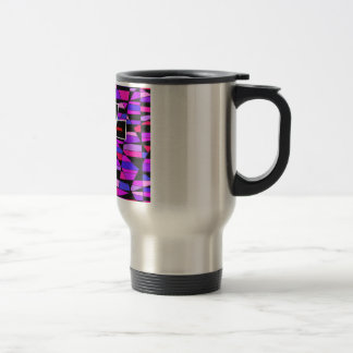 The Stained Glass Cross. Travel Mug
