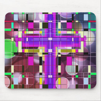 The Stained Glass Holy Cross. Mouse Pad