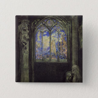 The Stained Glass Window, 1904 Pinback Button