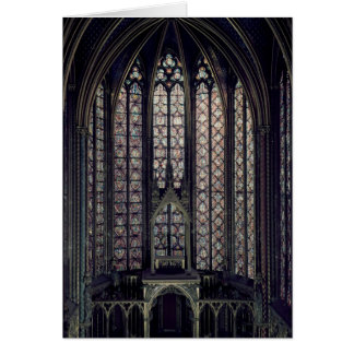 The stained glass window greeting card