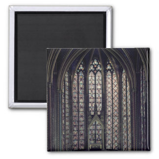 The stained glass window fridge magnet