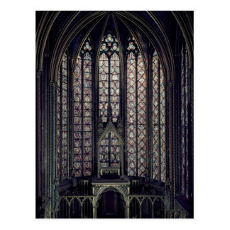The stained glass window postcard