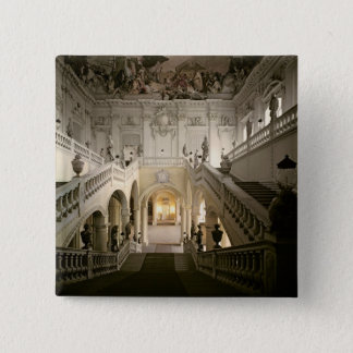 The staircase, built 1719-44 pinback button