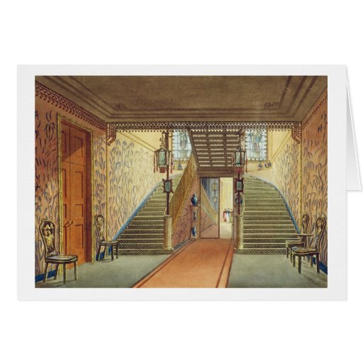 The Staircase, from Views of the Royal Pavilion, B Card