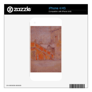 The Staircase Note in Red James McNeill Whistler Skin For iPhone 4S