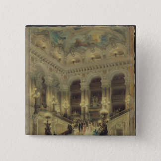 The Staircase of the Opera, 1877 Pinback Button