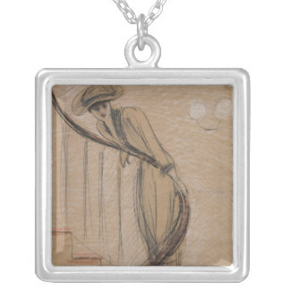 The Staircase Square Pendant Necklace
