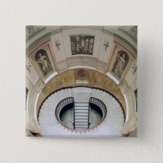The stairwell, built c.1776 pinback button