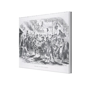 The Stamp Act Riots at Boston Canvas Print