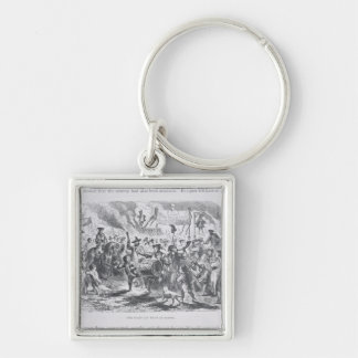 The Stamp Act Riots at Boston Keychain