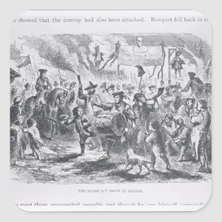 The Stamp Act Riots at Boston Square Sticker