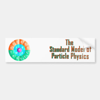 The Standard Model of Particle Physics Bumper Sticker