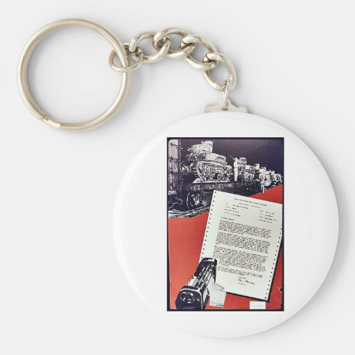 The Standard Register Company Basic Round Button Keychain