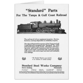 The Standard Steel Works 1915 Card