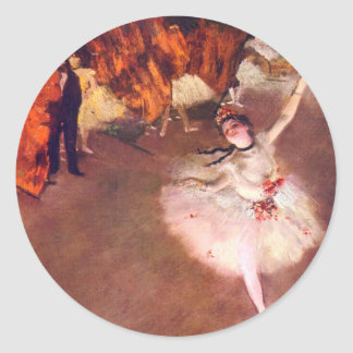 The Star (Dancer on the Stage) by Edgar Degas Classic Round Sticker