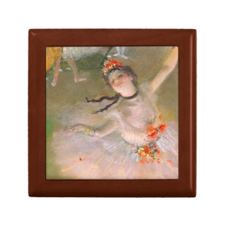 The Star (Dancer on the Stage) by Edgar Degas Keepsake Box