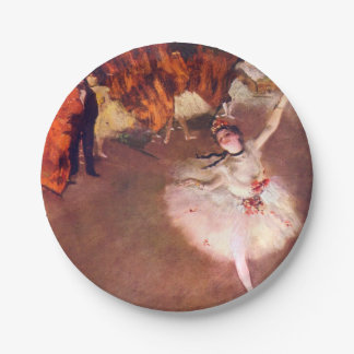 The Star (Dancer on the Stage) by Edgar Degas 7 Inch Paper Plate