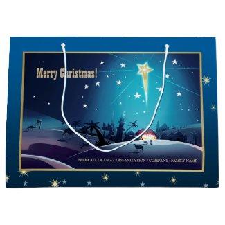 The Star of Bethlehem. Custom Christmas Gift Bags Large Gift Bag
