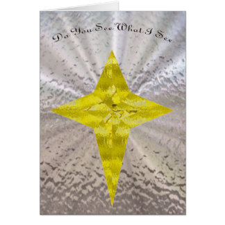 The Star of Bethlehem in Stained Glass Card