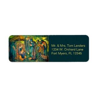 The Star of Bethlehem Return Address Labels label