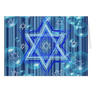 The Star of David and the bubbles. Card