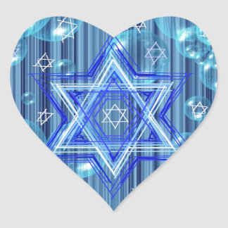 The Star of David and the bubbles. Heart Sticker