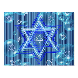 The Star of David and the bubbles. Postcard