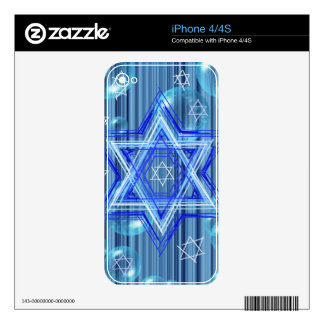 The Star of David and the bubbles. Decals For iPhone 4S