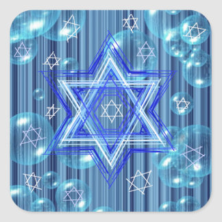 The Star of David and the bubbles. Square Sticker