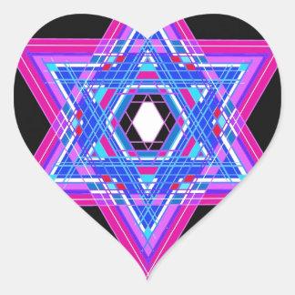 The Star of David Heart Sticker