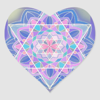 The Star of David. Heart Sticker