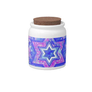 The Star of David... on marble. Candy Jars