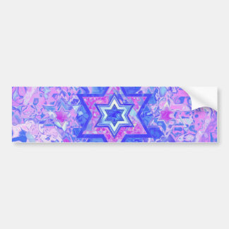 The Star of David... on marble. Car Bumper Sticker