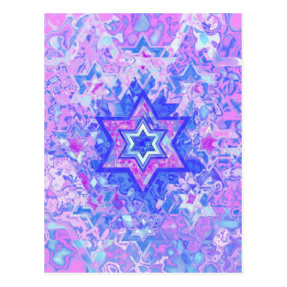 The Star of David... on marble. Postcard