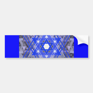 The Star of David Overlays. Bumper Sticker
