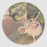 The Star of the Ballet by Edgar Degas Round Stickers